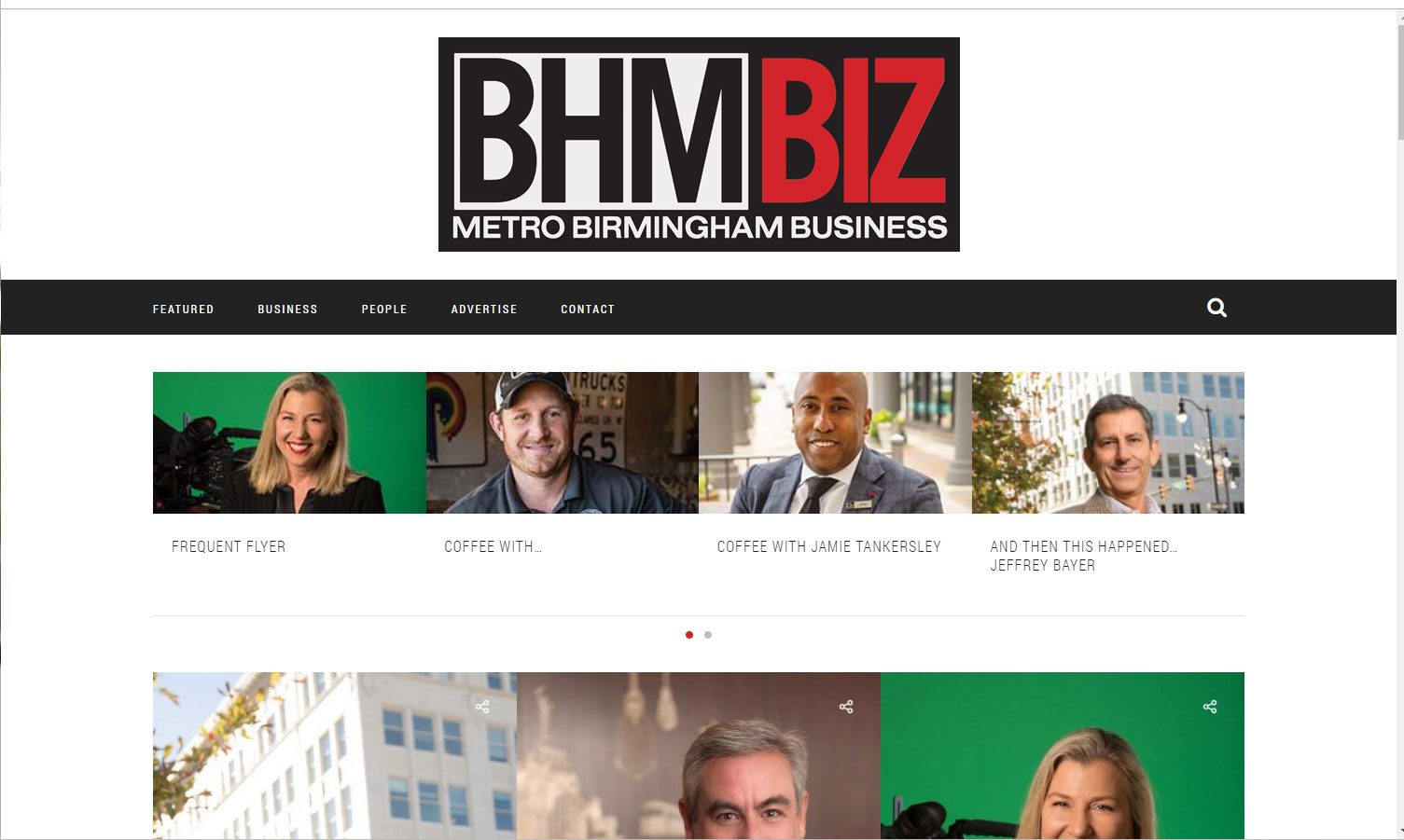 Homepage of BhmBiz