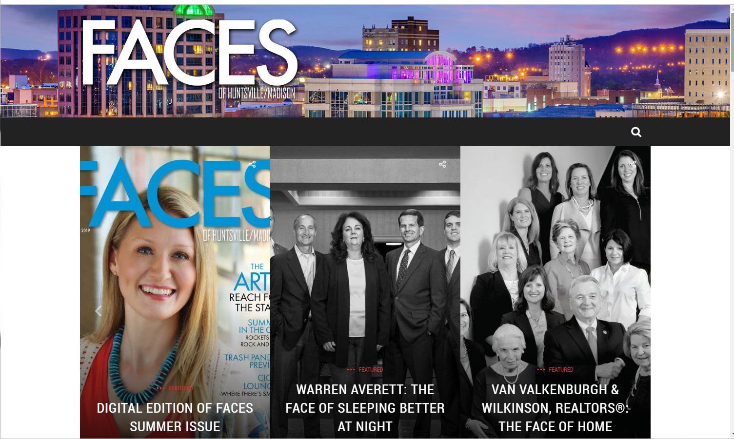 Homepage of Faces of Huntsville/Madison