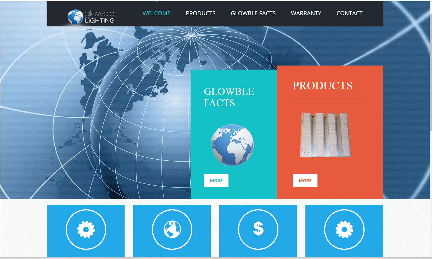 Homepage of Glowble Lighting